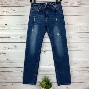 7 For All Mankind Slimmy Distressed Jeans Boys 14